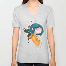 Twitchy, Witchy Girl Unisex V-Neck