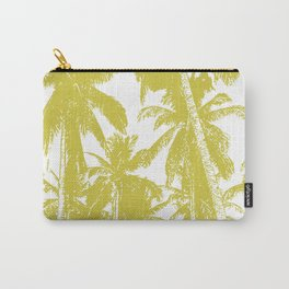 Palm Trees Design in Gold and White Carry-All Pouch