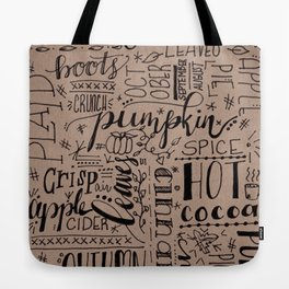 All Things Fall on Craft Tote Bag