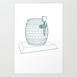 beer keg Art Print