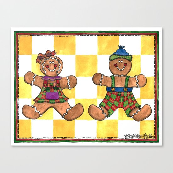 The Gingerbread Twins Canvas Print
