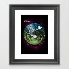Space To Breathe Framed Art Print