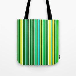 GREEN SPRING STRIPES Tote Bag