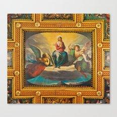 Ceiling Fresco at the St. Bartholomew on the Island Basilica Canvas Print