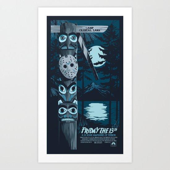 FRIDAY THE 13TH (01) Art Print