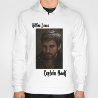 "captain hook Hoodies featuring OUAT - Killian Jones - Captain Hook by Barbara ""Yuhime"" Wyrowińska"