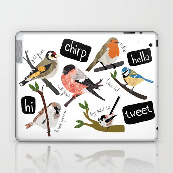 British Garden Birds Laptop & iPad Skin