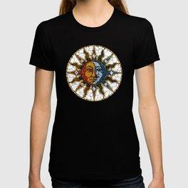 Celestial Mosaic Sun and Moon COASTER T-shirt