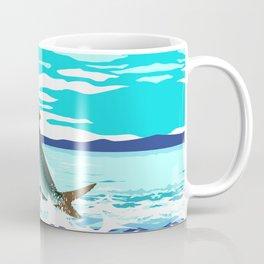 tarpon leaping out of sea Coffee Mug