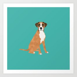 Boxer dog breed gifts for pure breed boxer dog lovers Art Print