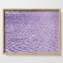 Ultra Violet Glittering Wavy Pattern | Trendy Color of year 2018 Serving Tray