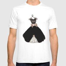 That Little Black Dress White Mens Fitted Tee MEDIUM