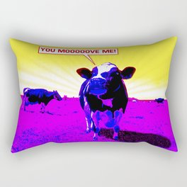 Psychedelic Cows Rectangular Pillow