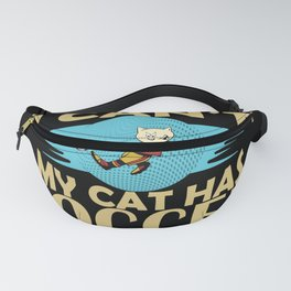 Cat Soccer Player Funny Fanny Pack
