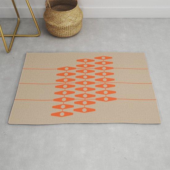 abstract eyes pattern orange tan by vrijformaat