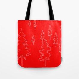 Holiday Trees diffused Tote Bag