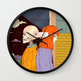 Haunting Past (A Reflection) Wall Clock
