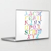 alphabet Laptop & iPad Skins featuring Alphabet by Bridget Davidson