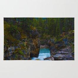 Beauty Creek in Jasper National Park, Canada Rug