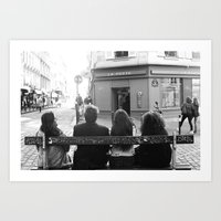 Kids in Paris  Art Print