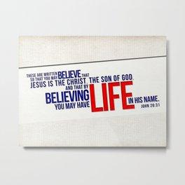 Life in His Name Metal Print