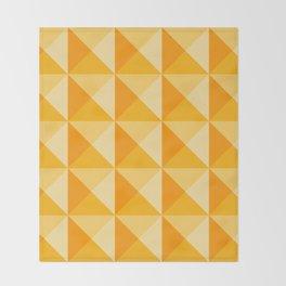 Geometric Prism in Sunshine Yellow Throw Blanket