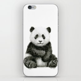 Panda Baby Watercolor iPhone Skin