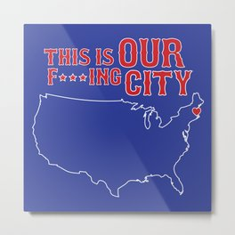 Boston Strong - This is our f***ing city - USA on dark Metal Print