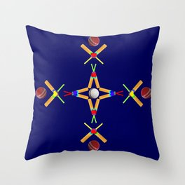Sport Of Cricket Design version 3 Throw Pillow