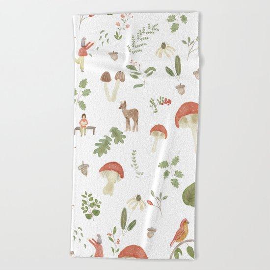 Forest Dream Pattern Beach Towel