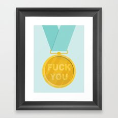 Fuck You Medal Framed Art Print