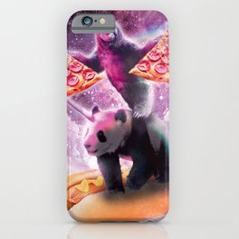 Space Pizza Sloth On Panda Unicorn On Hotdog iPhone Case