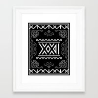 2ne1 Framed Art Prints featuring 2NE1 - Roman Numeral Motif by Betwixt
