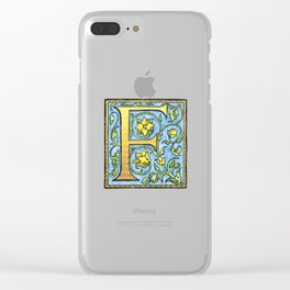 Monogram Initial Alphabet Letter 'F' Clear iPhone Case
