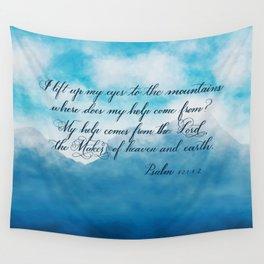 Psalm 121:1-2 Flourish #1 Wall Tapestry