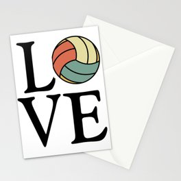 Volleyball Love - Vintage Sport Ball Design Stationery Cards