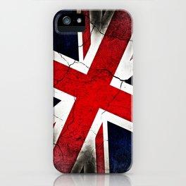 Punk Grunge Union Jack British Flag iPhone Case