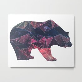Bear - Geometric Galaxy Metal Print
