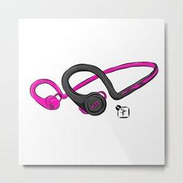 Over the ear head phones Metal Print