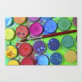 Watercolor Palette Canvas Print