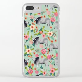 Brahman Cattle cow farm floral homesteader farming cattle breeds Clear iPhone Case