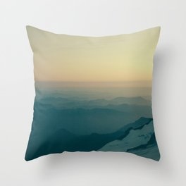 Overlooking Nisqually Throw Pillow