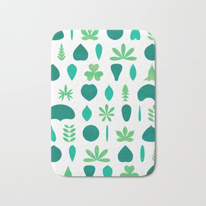 Leaf Shapes and Arrangements Pattern Bright Bath Mat by kathrinmay on leaf design curtains, leaf design sheets, leaf design furniture, leaf design rugs,