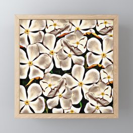White flowers Framed Mini Art Print