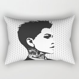The handsome butch with neck tattoos Rectangular Pillow