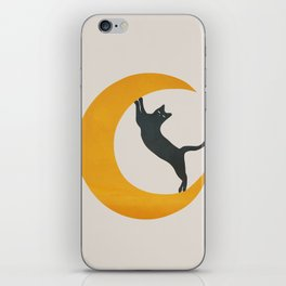 Moon and Cat iPhone Skin
