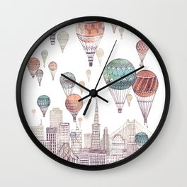 Voyages Over San Francisco ~ Refresh Wall Clock