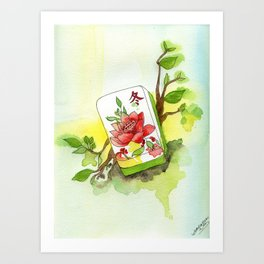 Majong Musing Art Print
