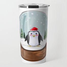 Penguin Snow Globe Penguins Kawaii Christmas Gift Travel Mug