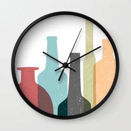 BOTTLES poster Wall Clock
